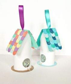 Cute Birdhouse Paper Tube Craft