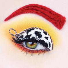Disney Eye Makeup, Eye Makeup Art, Makeup Eyeshadow, Jessie Toy Story, Toy Story Halloween, Halloween Looks, Haloween Makeup, Makeup Toys, Makeup Inspiration