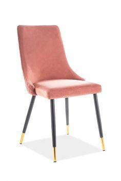 Scaunul Piano Velvet a fost creat în conformitate cu moda actuala avand o tesatura de catifea moale si placuta, spatele scaunului avand un model de tesatura elegant. Acest scaun tapitat in culoarea roz cu picioare din metal negre este un scaun stabil si elegant, potrivit pentru interioarele moderne si minimaliste dand o pata de culoarea incaperii. #scaun #tapitat #catifea #roz #scauntapitat #scauncatifea #scaunroz #diningroom #chairs #pink #velvet #chair #chairdesign #velvetchair Piano, Minimalism, Accent Chairs, Dining Chairs, Velvet, Furniture, Home Decor, Products, Pink
