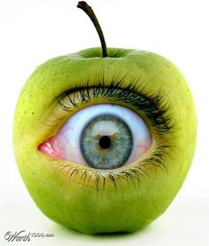 You are the apple of my eye. (little weird)