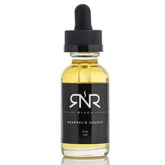 RNR Black Vapors General's Crunch - Savory tart topped with strawberries and whipped cream.70% VG