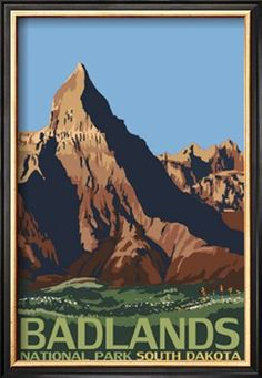 Badlands National Park, South Dakota - Lantern Press ArtworkQuality Poster Prints Printed in the USA on heavy stock paper Crisp vibrant color image that is resistant to fading Standard size print, ready for framing Perfect for your home, office, or a gift National Park Posters, Us National Parks, Party Vintage, Voyage Usa, Badlands National Park, South Dakota, South Carolina, Sedona Arizona, South America Travel