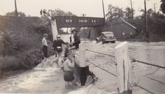 New Haven Railroad Bridge after 1938 hurricane, Branford CT