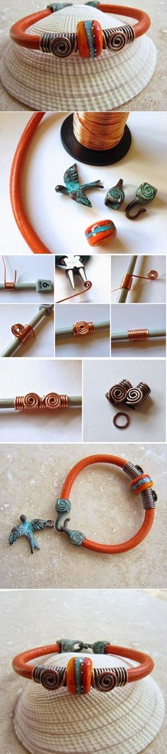 """DIY SIMPLE LEATHER BRACELET by """"The Gossiping Goddess"""""""