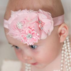 Newborn Flower Hair Band Kids Flower Elasticity