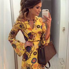 {Do dia } De @murauoficial Vestido estampado básico para um dia corrido!  •…