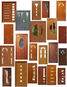 Drzwi zewnętrzne mix modeli - Lilly is Love House Window Design, Home Door Design, House Gate Design, Door Gate Design, Door Design Interior, Main Door Design, Front Door Design Wood, Wooden Door Design, Best Door Designs