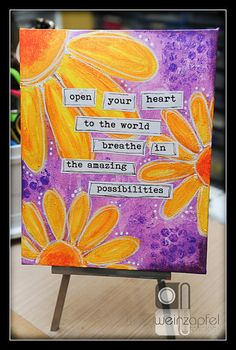 Open Your Yeart  By Tracy Weinzapfel  Mixed Media by twstudios, $25.00