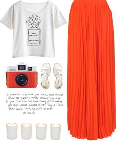 """Orange"" by child-of-the-tropics ❤ liked on Polyvore"