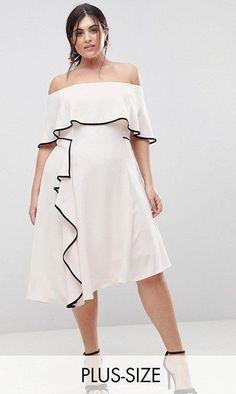 0426fb90a63 Coast Plus Bardot Soft Dress With Black Tipping at asos.com. Curvy Women  FashionPlus Size ...