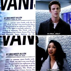 The Flash 1x20 and 3x23 I love how this is the only thing they notice about this paper. Like, they don't seem to care that Barry goes missing in a few years?