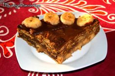 Tarta vegetariana de galleta, chocolate y plátano. ¡Qué maravilla!