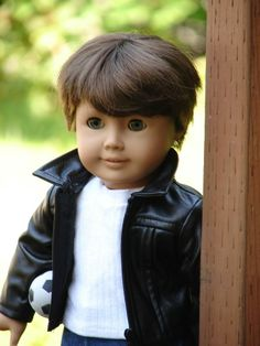 """American Boy Doll Customized Pleasant Co 18"""" complete with clothing as pictured"""