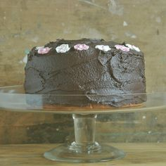 old fashioned and super naughty: browned butter chocolate cake with cinnamon chocolate frosting...