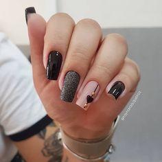 2019 Beautiful Nail Designs for Fall - Uñas esmalte permanente - Unhas Pink Nail Art, Cute Acrylic Nails, Cute Nails, Stylish Nails, Trendy Nails, Gorgeous Nails, Perfect Nails, Rock Nails, Clean Nails