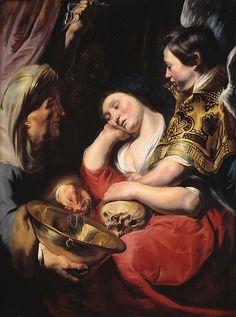 Jacob Jordaens - De verleiding van Maria Magdalena 1616