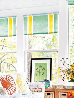 4 Secure Tips AND Tricks: Blinds Ideas Simple blinds for windows cheap.Roll Up Blinds Window Treatments black wooden blinds.Blinds For Windows Boho. Fabric Shades, Diy Curtains, Roller Shades, Living Room Blinds, House Blinds, Colorful Diy, Outdoor Blinds, Ikea Blinds, Blinds Design