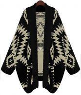 Black+Batwing+Long+Sleeve+Geometric+Cardigan+Sweater+$26.90