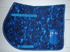 Embroidered Police Box galaxy saddle pad Dr. by ThePaintedPonyTack, $62.00