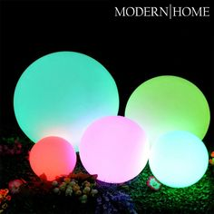 LED Glow Ball Light Color Changing remote control waterproof for home or swimming pool Outdoor Table Lamps, Outdoor Lighting, Outdoor Decor, Landscape Lighting, Christmas Balls Decorations, Ball Decorations, Wedding Decorations, Floating Lights, Glow