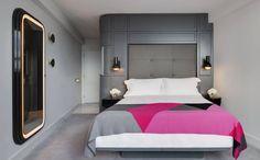Mondrian London Hotel / interior design by Tom Dixon Mondrian, London Hotels, Sea Containers, Neon Room, La Rive, Hotel Interiors, Restaurant, Interior Design, Bar Interior