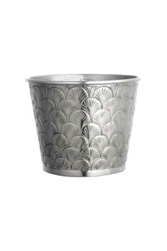 Metal plant pot - Silver - Home All | H&M GB 1