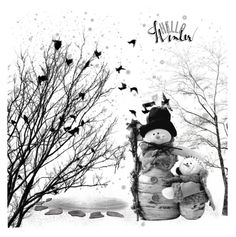 Hello Winter! by maitepascual on Polyvore featuring polyvore art Winter helloWinter