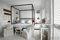 Four poster bed in black. Madrid Apartment Design - Luis Bustamante Madrid Home - ELLE DECOR Madrid Apartment, Apartment Design, Awesome Bedrooms, Beautiful Bedrooms, Elle Decor, Luxury Apartments, Luxury Homes, Design Blog, Design Art