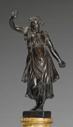 Italian bronze angel, 17th century.