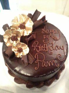 50th Golden Birthday Cake Creative Kitchen Ft. Smith AR