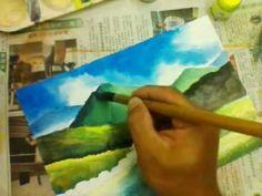 690 Art Class - Shiny day watercolour painting.3gp