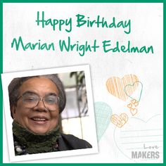 Happy Birthday Marian Wright Edelman! http://aol.it/ZvxMOo