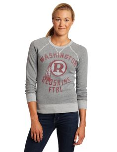 NFL Washington Redskins Heather Vintage French Terry Raglan Women's