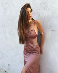 Negin Mirsalehi in the Genevieve Slip Dress