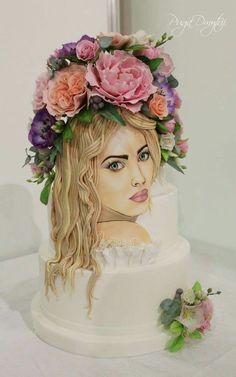 Flower Portrait Cake