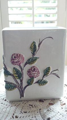 Vintage Shabby Chic Flower Vase by PattiesPassion on Etsy, $29.99