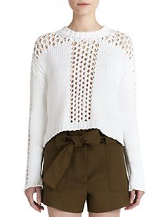 Derek Lam 10 Crosby - Open-Knit Sweater
