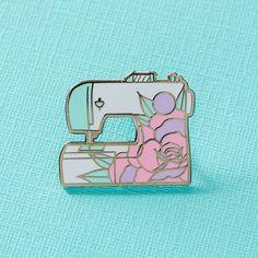Sewing Machine Pin Badge // Stitching sewing enamel pin