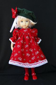 """Sweet Holiday ~ OOAK Outfit for 13"""" Effner Little Darling~ Glorias Garden"""