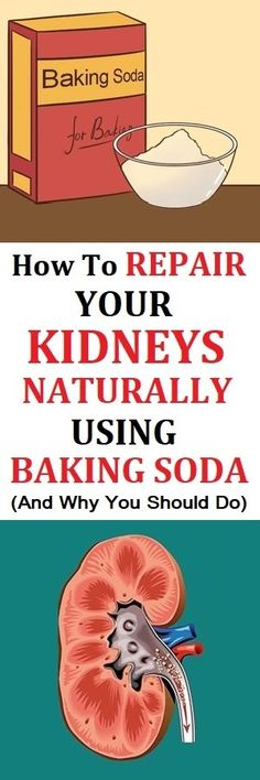 Drinking a glass of water with baking soda can relieve heartburn and acid reflux as it's a natural antacid, and the compound can also be used to prevent kidney problems