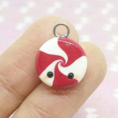 #kawaii #charms #polymer #clay #christmas #peppermint #candy #charm