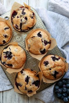 This blueberry muffin recipe calls for mashing a half cup of berries and adding them to the batter. This produces a very moist muffin, one that will stay fresh longer. (Photo: Jim Wilson/The New York Times )