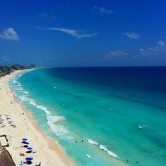 View of Cancun -- hello honeymoon! Can't wait!!