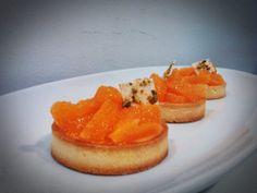 sablle#cremoso de vainilla y chocolate blanco#mandarinas a vivo