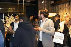 Customers at Rockett St George Housewarming Launch Party at Liberty London #rockettstgeorge #liberty #london #libertylondon #launch #event #housewarming #city #rsg #interiors #interior #homeware #home #house #inspiration #customer #party #cocktails #alcohol #glitter