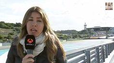 Vídeo salida de pista Lewis Hamilton Jerez 2014 en la entradilla de Nira Juanco Antena 3 TV