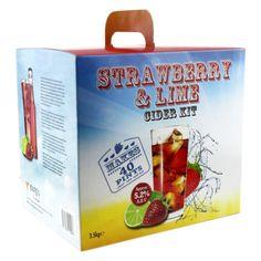 Strawberry & Lime Cider - 40 pint / 23L homebrew cider making FREEPOST UK