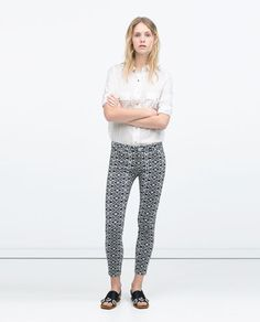 ZIPPED SKINNY JEANS-View all-Trousers-WOMAN | ZARA United States