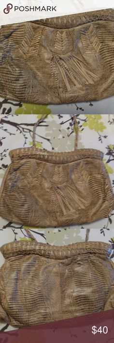 Vintage Viva Leather Clutch Purse with Strap Vintage Viva of California Leather Clutch Purse with Strap. In great condition!! Viva Bags Clutches & Wristlets