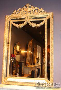 Antieke Lodewijk XVI spiegel